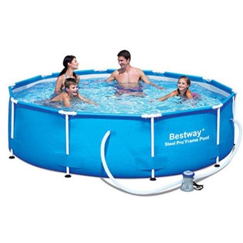 Bestway �10ft x 30in deep steel pro frame pool with filter pump de nataci�n