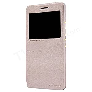 DIGIONE NILLKIN Sparkle Series Flip Cover For Lenovo K3 Note A7000 Gold