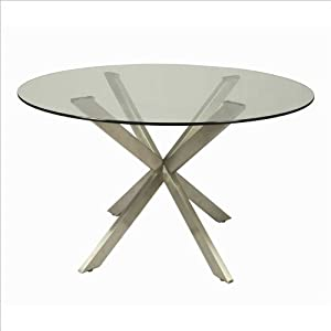 Eritrea round glass top dining table in for 13 inch round glass table top