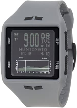 Vestal Men's BRG008 Brig Tide and Train Gray Black Digital Surf Watch