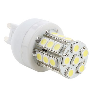 M.M G9 3.5W 27X5050 Smd 300Lm 5500-6500K Natural White Light Led Corn Bulb (230V)