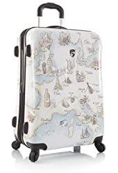 "Heys Illustrated Maps 26"" Spinner Luggage"