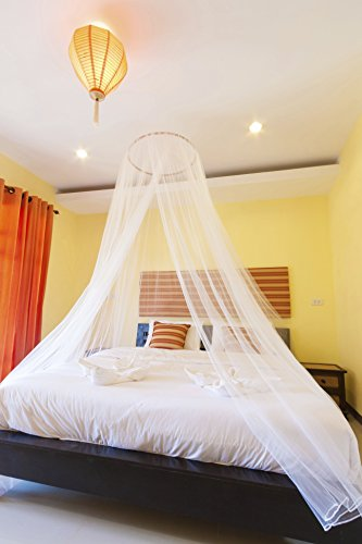 PearBlue Large Mosquito Net Bed Canopy Insect and Pest Repellent | Indoor/Outdoor Conical Double Bed Canopy Curtains |Repel Safety Malaria Zika and Pests