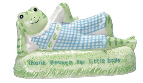 "Kelly B. Rightsell Designs Ceramic Coin Bank, Henry Frog, 9.5""X5.25"""