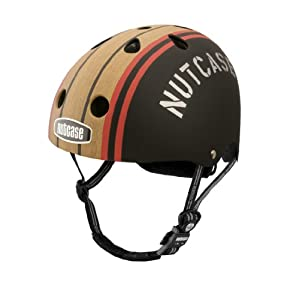 Nutcase Stumptown Woody Matte Bike Helmet, Red Blue
