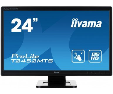 Iiyama ProLite 23.6, black Optical Multitouch, 16:9, T2452MTS-B4 (Optical Multitouch, 16:9 incl.: cable (USB, VGA, DVI, Audio), power cable, stylus-pen, QSG)