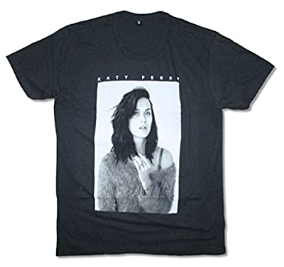Katy Perry B&W Photo Portrait Black T Shirt