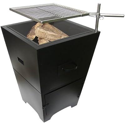 La Hacienda Venezia Fire Pit And Barbecue Grill - Black by Worldstores
