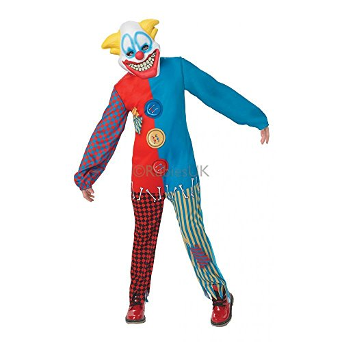 Scary Clown Costume Large Horror Circus Fancy Dress Outfit Halloween