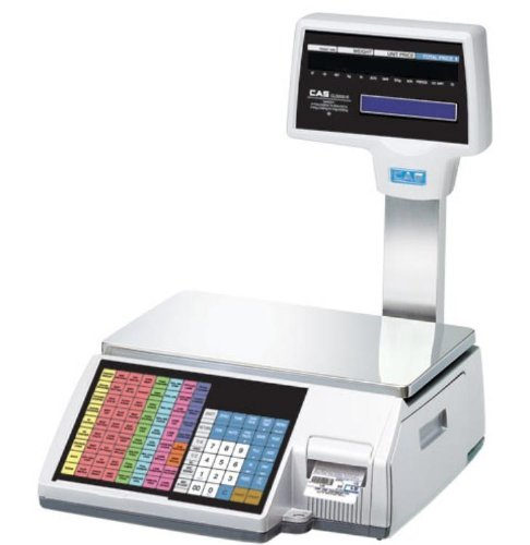 Cas Cl5000R-60 Cl 5000 Series Pole Model Label Printing Scale, 60Lbs/30Kg Capacity, 0.02Lbs/0.01Kg Readability