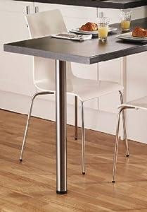 BREAKFAST BAR LEGS / TABLE WORKTOP DESKS - Brushed Steel