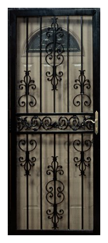 First Alert D80FA32X80 Ashland 32 Inch By 80 Inch Security Screen Door,  Black Reviews