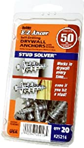 Itw Brands 25216 EZ Ancor 20-Pack #50 Plastic Drywall Anchors - Quantity 6
