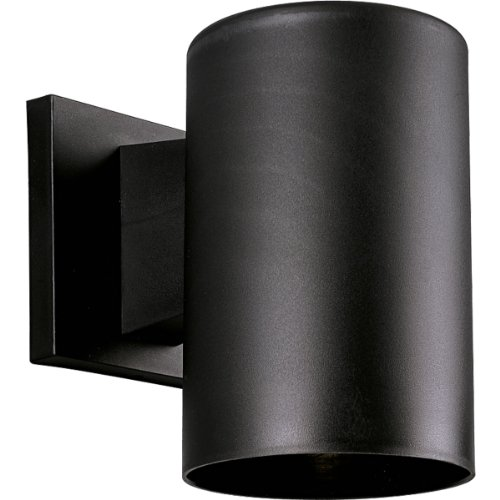 Progress Lighting P5712-31 5-Inch Non-Metallic Cylinder with Only Non-Corrosive Hardware Components Used and UL Listed For Wet Locations, Black image