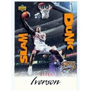 Allen Iverson basketball card 1997 Upper Deck #SD30 Slam Dunk (Philadelphia 76ers) rookie card
