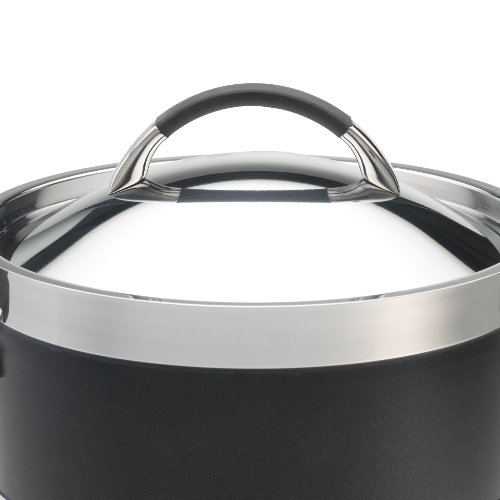 anolon ultra clad stainless steel 8 quart covered stockpot best stockpots reviews. Black Bedroom Furniture Sets. Home Design Ideas