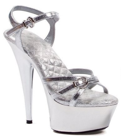 Costumes For All Occasions HA137SV10 Shoe Kendall Size 10 - Silver