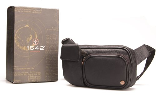 1642 Leather Bumbag Travel Bag # 6526_12