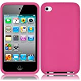Pink Soft Silicone Xylo-Skin Case for the Apple iPod Touch 4 4G (8GB 32GB 64GB) MP3 Player.