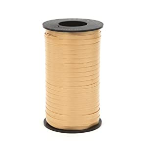 Berwick Splendorette Crimped Curling Ribbon, 3/16-Inch Wide by 500-Yard Spool, Gold