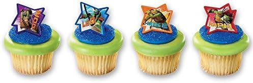 DecoPac Teenage Mutant Ninja Turtles Cupcake Rings 12 Count