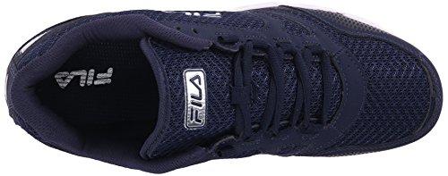 Fila Men's Direction-M Running Shoe, Fila Navy/Fila Navy/Metallic Silver, 10.5 M US