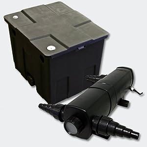 Kit SunSun de Filtration de Bassin Bio Filtre 12000l Stérilisateur UVC 24W