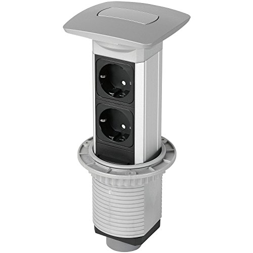 Steckdosenleiste Pop up VersaPull versenkbar 2x Schuko 230 V, 03VI6000NR