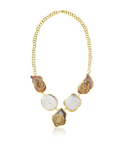 Saachi Filligree Stone Statement Necklace