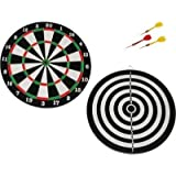 Double Sided Dart Board Game Quality As Per International Standard With 4 Darts Size 12 Inch