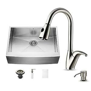 VIGO VG Farmhouse Faucet Dispenser Kitchen Sink