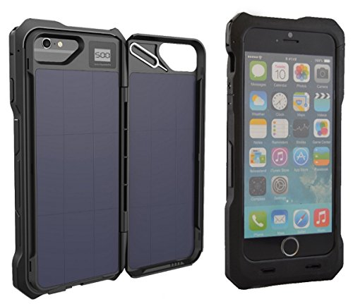 iPhone 6 Solar Charger Battery Case by Phone Chargee Case - MFi Certified cc1a7fdc0d74