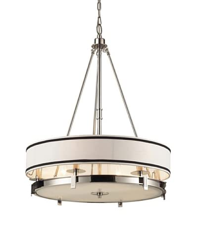 Artistic Lighting Tribeca 6-Light Pendant in Polished Nickel