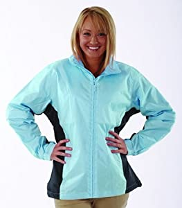 Weather Company Ladies Microfiber Full Zip Jacket Royal Medium by The Weather Company