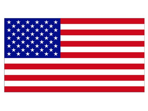 American Flag LARGE (Bumper Sticker)