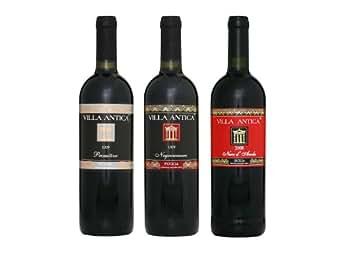 Italien Weinprobe Rotwein aus Apulien 2 Flaschen Primitivo Rotwein, 2 Flaschen Negroamaro Rotwein, 2 Flaschen Nero d'Avola Rotwein IGT trocken 2010/2011, 1er Pack (1 x 4.5 l)