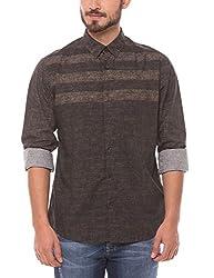 Shuffle Men's Casual Shirt (8907423017931_2021512401_Medium_Brown)