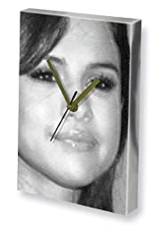 SELENA GOMEZ - Canvas Clock (LARGE A3 - Signed by the Artist) #js004