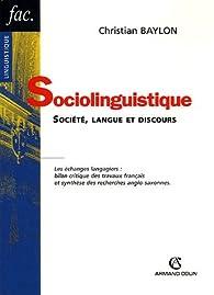 Sociolinguistique par Christian Baylon