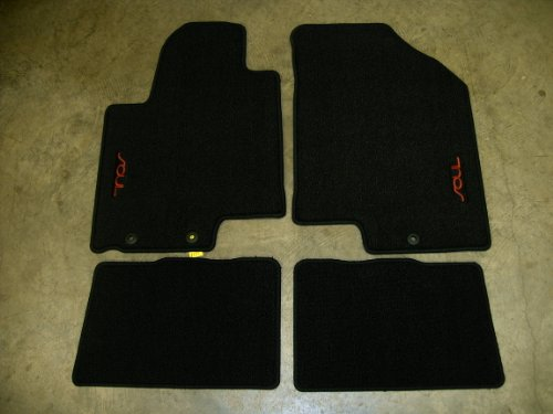 Interior   Kia 2010 Kia Soul Floormats  Carpet Black Sport  Red