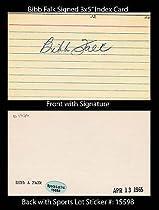 Bibb Falk Signed 3x5 Index Card Sl Authentic Chicago White