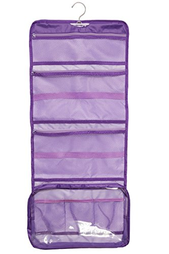 Lilliput Hanging Toiletry Bag and Cosmetic Organizer Extra Large YKK Zippers (Purple) Bath Case Pack