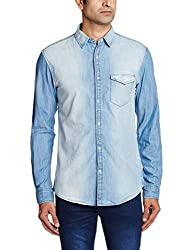 Breakbounce Men's Dress Shirt (8907066078979_Devlyn_XX-Large_Sand Blue)