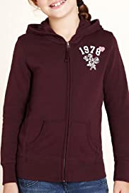 Pure Cotton Zip Through Hooded Sweat Top [T74-1866V-S]