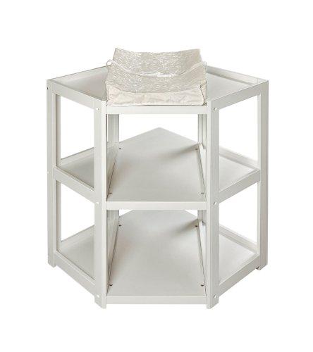 Badger Basket Diaper Corner Changing Table, White