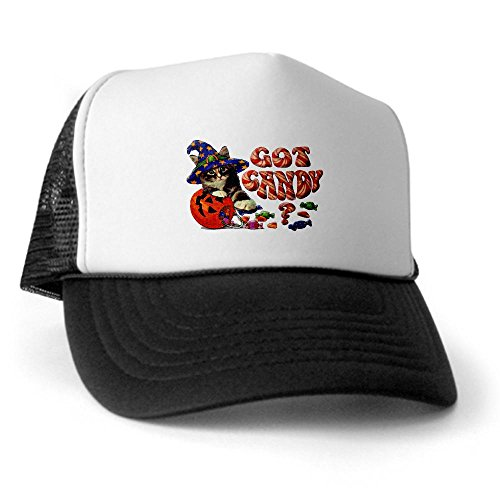 Royal Lion Trucker Hat (Baseball Cap) Halloween Got Candy Kitten Pumpkin