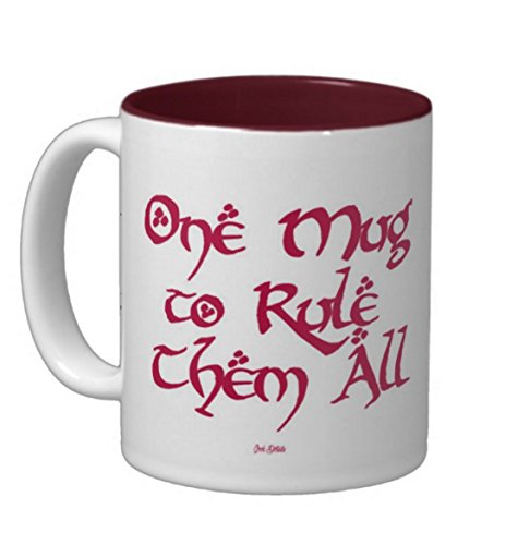 Geek Details Maroon One Mug to Rule Them All Coffee Mug, 11 Oz, Maroon (Geek Details Lord Of The Rings compare prices)