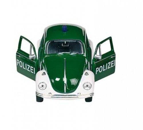 VW-Kfer-Polizei-grn-Volkswagen-Modellauto-Welly