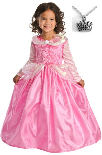 Sleeping Beauty Dress with Wondercharms Necklace - LARGE (5-7)