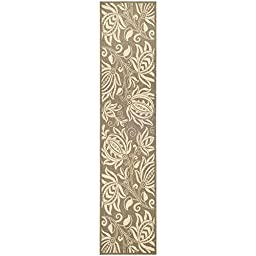 Safavieh Courtyard Collection CY2961-3009 Brown and Natural Indoor/ Outdoor Runner, 2 feet 3 inches by 10 feet (2\'3\